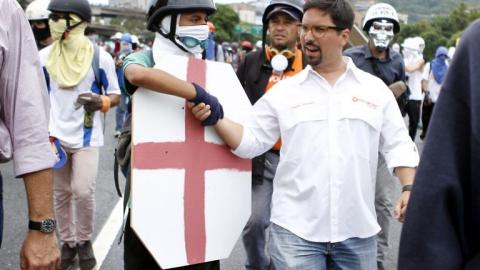 Popular Will party coordinator Freddy Guevara